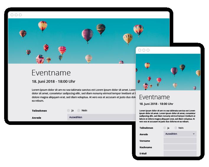 eyevip ermöglicht die Eventkommunikation direkt aus dem Tool heraus.
